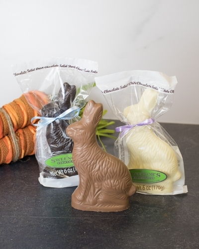 Picture of 6 oz Solid Chocolate Rabbits