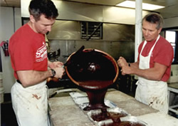 Now Bill and Brian Sweenor maintain the candy-making tradition (Photo courtesy of The Westerly Sun)